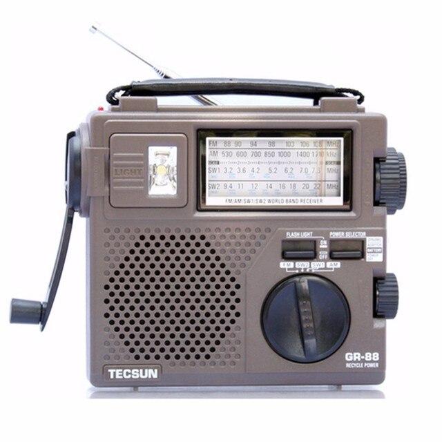 TECSUN GR-88 Цифровой FM \ AM \ SW Радиоприемник Встроенный Динамик Руководство Производство Электроэнергии Рук Радио Аварийное освещение Динамо радио ^