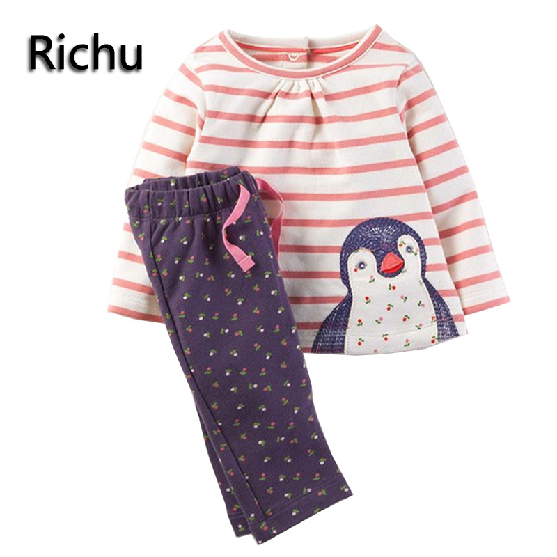 new brand children girls clothing sets kid cloth fashion  winter underwear toddler long cotton baby clothes girl skin suit set 2016 new type of cotton children tracksuit suit girls underwear baby home clothes and children s clothes