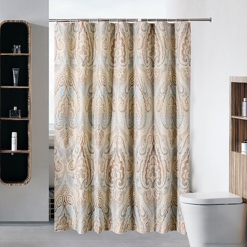 Classic Style Shower Curtain Roman Cortina Ducha Rideaux De Douche Thicken Polyester Waterproof Mildew bathroom Curtains 180X200