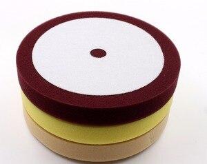 Image 2 - Мягкая полировальная подкладка для автомобиля 8 дюймов, обрезка пены, полировка и отделка, аналогичный американскому материалу, аналогичному стандарту MEGUIARS Φ (3 шт./лот)