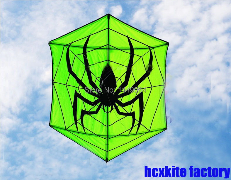 цена на free shipping high quality hexagonal kite spider kite with10m tails weifang kite hcxkite factory carbon rod ripstop nylon