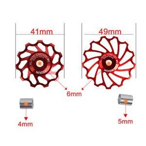 Image 4 - MEIJUN poulie en céramique pour vélo sur route 7005, dérailleur arrière en alliage daluminium, Guide de cyclisme, roue de Jockey, 2 pièces