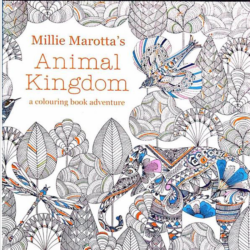 New Arrival Relieve Stress For Adult Painting Drawing Book 24 Pages Animal Kingdom  Kill Time English  Colouring Books