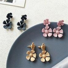 Small flower earrings jewelry earring geometry Metal restoring ancient ways Fashion wholesale womens statement