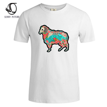 SUNNY FUTURE Brand new summer style Cotton men Clothing Male Slim Fit t shirt Man T-shirts Casual T-Shirts Swag mens tops tees