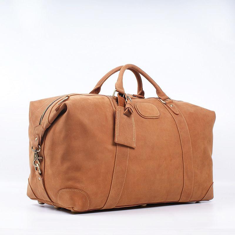 Large-capacity Travel Bag Genuine Leather Western Style Handmade Large-capacity Travel Bag Shoulder Handbag Travel Luggage Bag retrospect of western travel