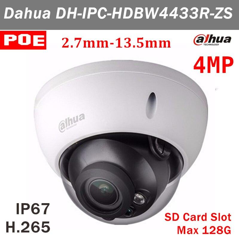 4MP versione Inglese Dahua IPC-HDBW4433R-ZS 2.7mm ~ 13.5mm obiettivo motorizzato H.265 ip camera POE e 128g di stoccaggio DH-IPC-HDBW4433R-ZS