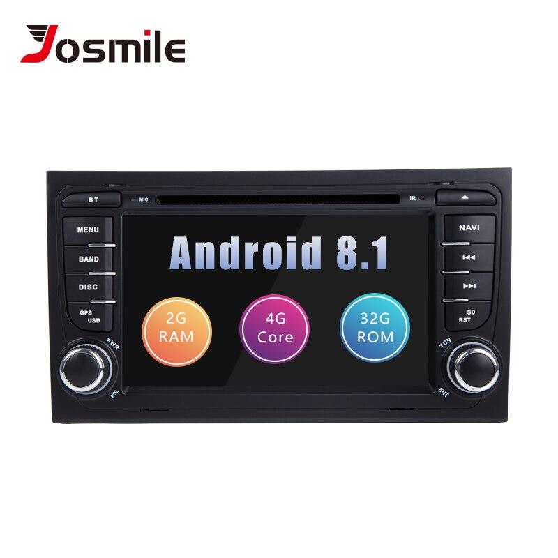 Josmile AutoRadio 2 Din Android 8.1 Car DVD Player per Audi A4 B8 S4 B6 B7 RS4 8E 8H b9 Seat Exeo 2002-2008 di Navigazione GPS Audio