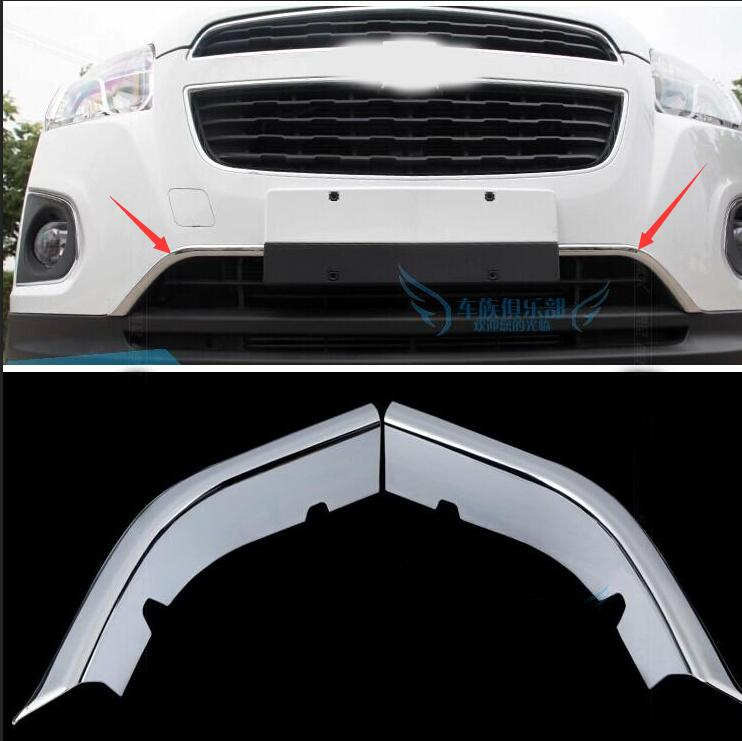 car styling case for Chevrolet Trax Tracker 2014 2016 chrome front hood grill bonnet cover trim molding garnish accessories