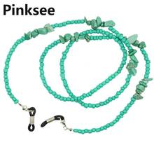 Eyeglass Chains & Lanyards Glasses Sunglasses Strap Chain Cord Neck Lanyard string Green Beaded Hold