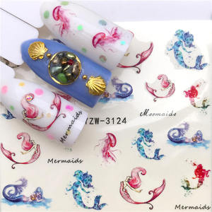 Image 4 - LCJ 2020 New Arrivial Nail Stickers Tiger/Cat Series Water Decal Flower Plant Pattern 3D Manicure Sticker Nail Water Sticker