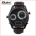 big face digital men watchs leather strap dual time zone pc21s movt with electronic movt HP3581