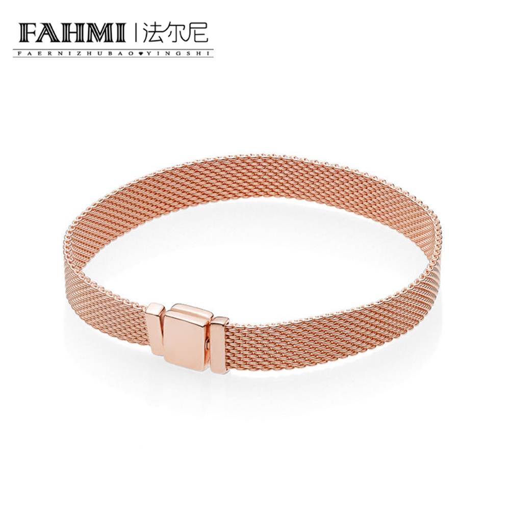FAHMI 925 пробы 100% Серебряный Новый 587712 Роза рефлексионы браслет оригинальный Шарм модные украшения Очаровательная для женщин подарок