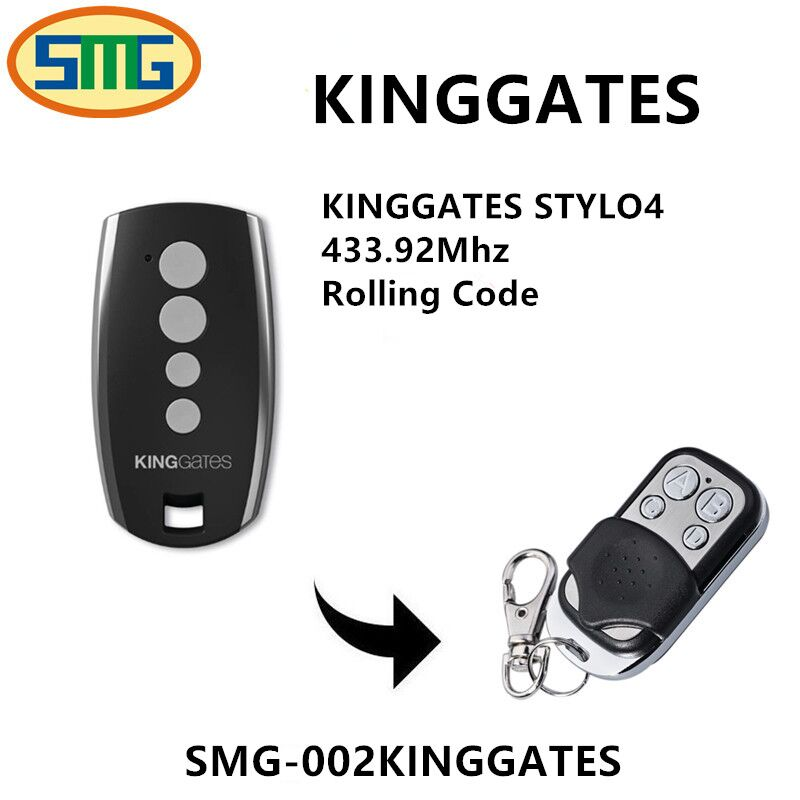 Channel:  4 channel King Gates STYLO 4 K compatible remote control Garage door gate - Martin's & Co
