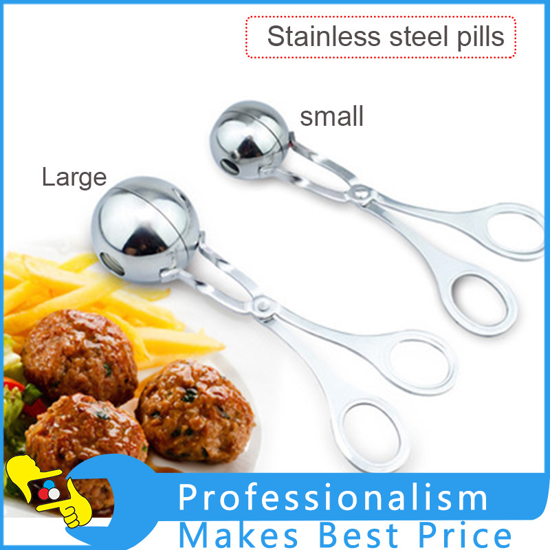 Household Stainless Steel Meatball Pill Meat Clamp Food Clip DIY Kitchen Gadget Cooking Mold  Tool plastic mold for household product case