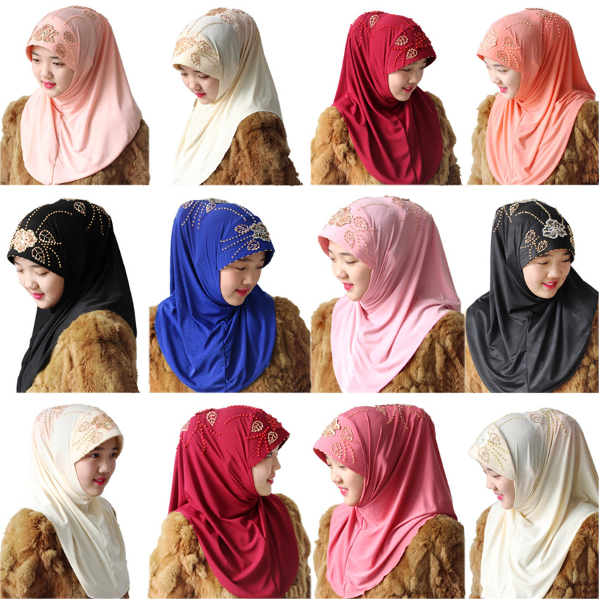 Women's Muslim Scarf Hijabs Arab Women Kerchief Arabic Turkish Girl Hijab Female Headkerchief
