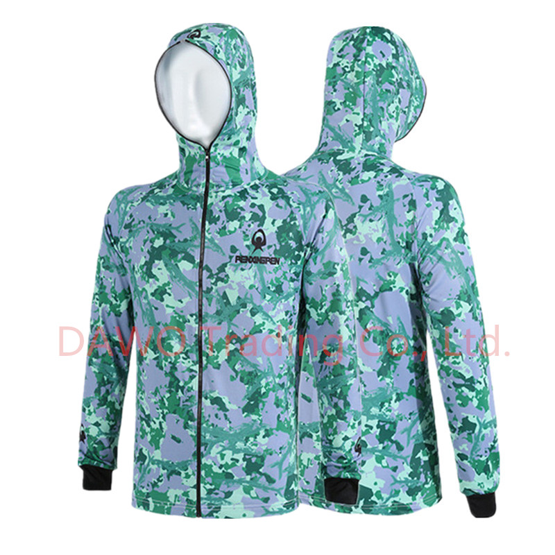 ФОТО 2017 New arrival Autumn winter warm comfortable breathable fishing  anti - scratch camouflage female male hooded fishing shirt