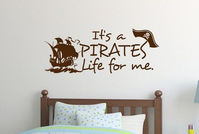 Slaapkamer Muur Quotes : Pirates muurtattoo moderne ontwerp vinyl muurstickers voor kinderen