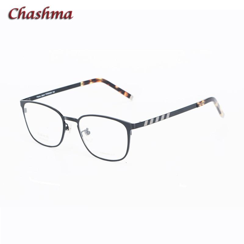 Chashma Designer 2019 hommes bleu lunettes optiques cadre Vintage Top qualité titane lunettes pour lentilles de Prescription lunettes rondes