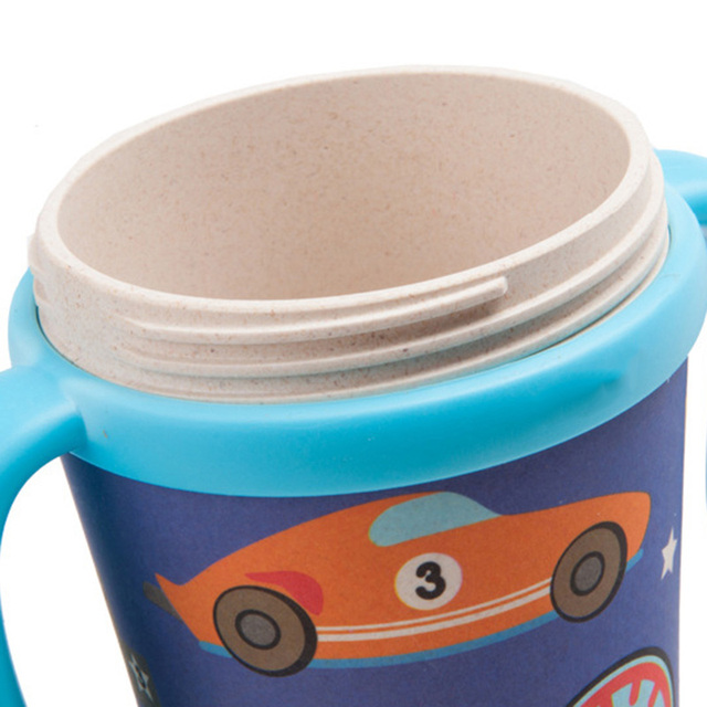 Cute Cartoon Themed Eco-Friendly Bamboo Kid's Travel Mug