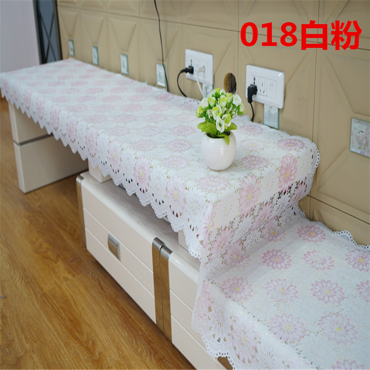 European Style PVC TV Cabinet Tablecloth Coffee Table Mats Bedside Cabinets  Dressing Table Shoe Cabinet Dust Cover Cloth In Tablecloths From Home U0026  Garden ...