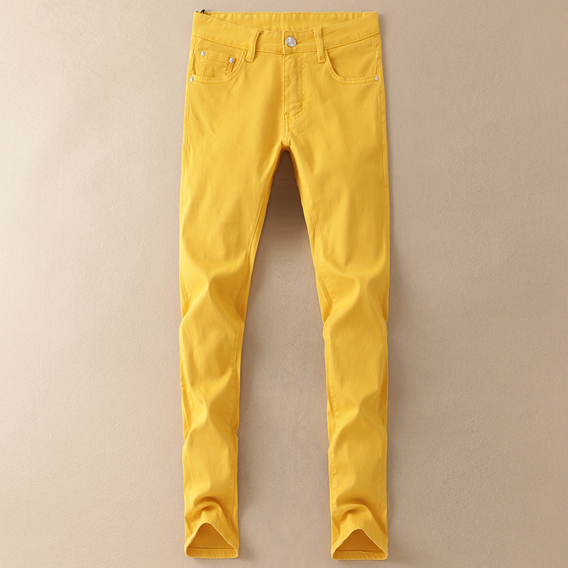 Very Good Quality Mens Jean Pants 2018 New Fashion Mens Casual Stretch Skinny Jeans Trousers Tight Pants Solid Colors 982