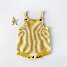 2019 Hot Sale Newborn Baby Romper Boys Girls Clothes Cotton Knitted Rompers Summer Infant Jumpsuit Overalls