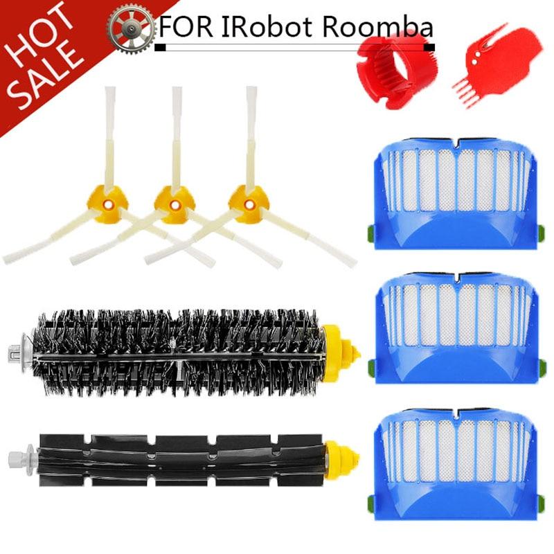 für iRobot Roomba 600 Serie 620 630 650 8pcs Filter Seitenbürsten Ersatzteile