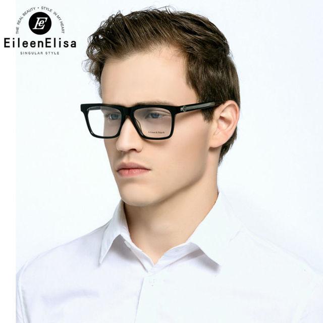 Homens Óculos De Armação 2016 Homens Marca Homens Óculos De Armação de Acetato de Óculos Ópticos Quadro Quadrado Óculos de Armação De Olho