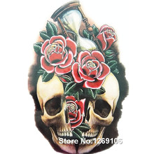 Fashion Sexy Foses And Skull 19x12cm Waterproof Temporary Tattoo Stickers