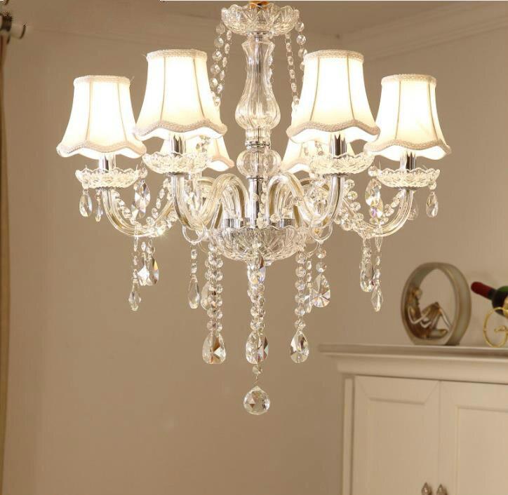 Modern LED Luzes Lustres Lustres de Cristal Iluminação lustre de cristal de Luxo Para Sala de estar Quarto