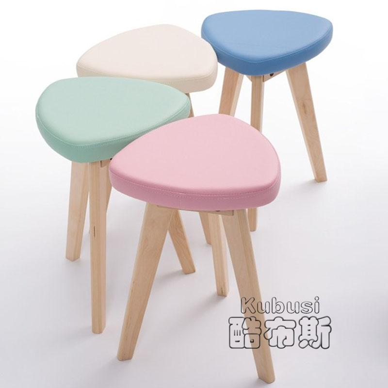 Leisure hotel dining chair stool wooden bench seat has a round face ...