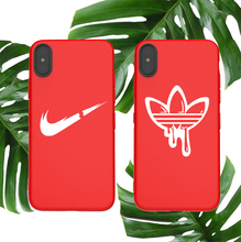 Sports Soft Case For Iphone 11 Pro X Xs Max Xr 10 8 7 6 6s Plus Phone Cover Matte Silicone Street Brand Logo Couple Coque Capa цена и фото