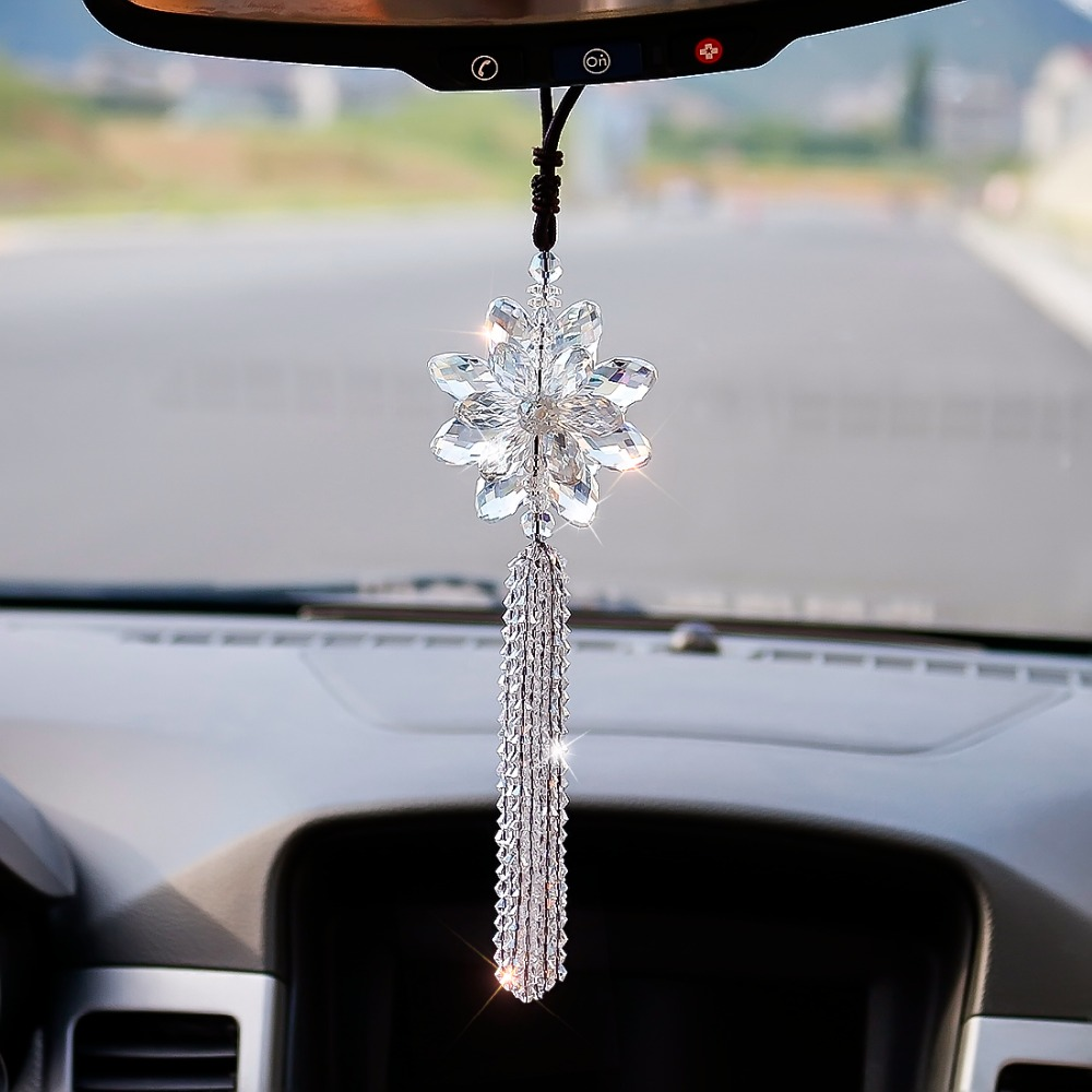hanging pendant car charm view rear mirror pin boho heart sweet