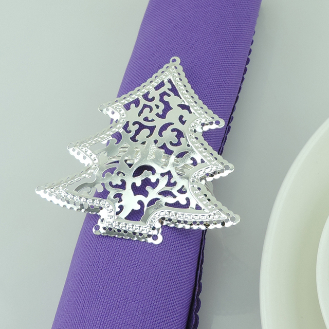 Christmas Tree Napkin Rings.Us 21 12 12 Off Hot Sale 12 Pc Christmas Tree Napkin Ring Serviette Holder Wedding Banquet Dinner Decor Favor Napkin Buckle Table Decorations In