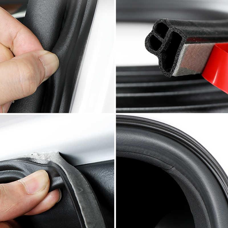 Style de voiture universel voiture porte joint bandes autocollants insonorisé étanchéité joints en caoutchouc isolation phonique Automobile Auto accessoires