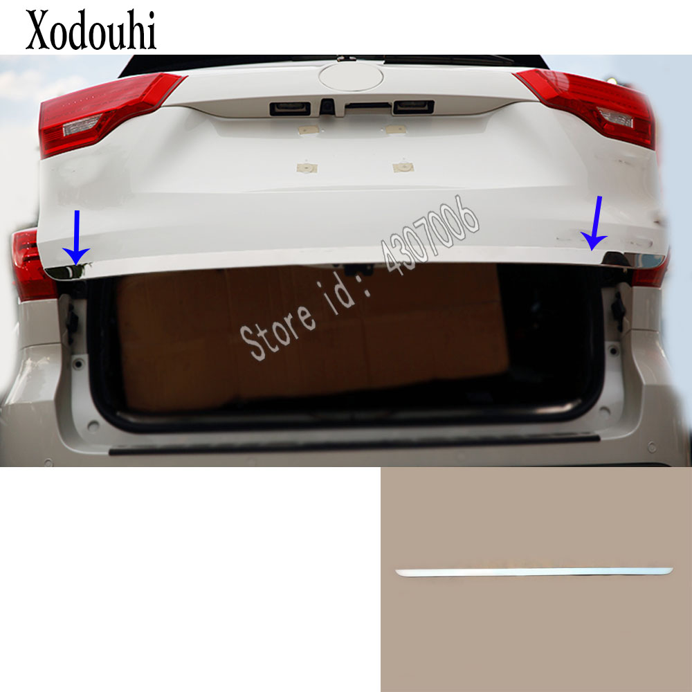 For Toyota Highlander 2018 2019 car sticker styling body Rear door tailgate bumper frame plate trim lamp trunk molding 1pcs