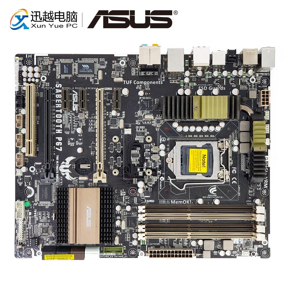 Asus SaberTooth P67 Desktop Motherboard Not Include Thermal Armor P67 LGA 1155 DDR3 32G SATA3 USB3.0 ATX