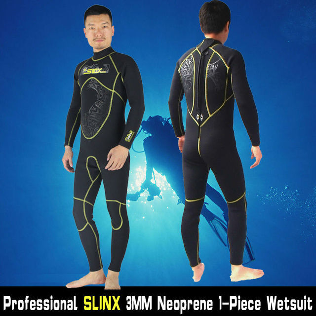 ab26492ae1 Mens 3MM Neoprene Men s Wetsuits Bodysuit Full Body Scuba Dive Wet Suit  Winter Swim Warm Surf Snorkeling Spearfishing Water Ski