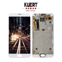 Free Shipping For Meizu MX 5 MX5 5.5 Digitizer Touch Screen Lcd Display Assembly With Frame Repair Part