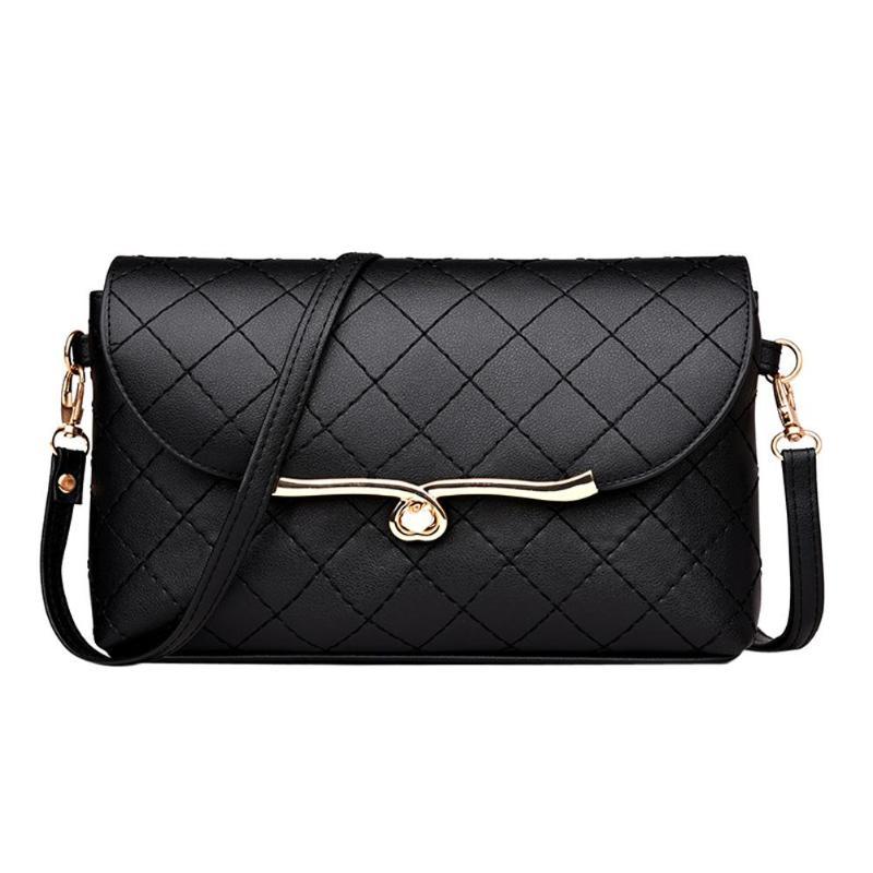 7879e420a010 Элегантный кожаный Сумки для Для женщин сумки через плечо известный  дизайнер плече клапаном сумки женские черные