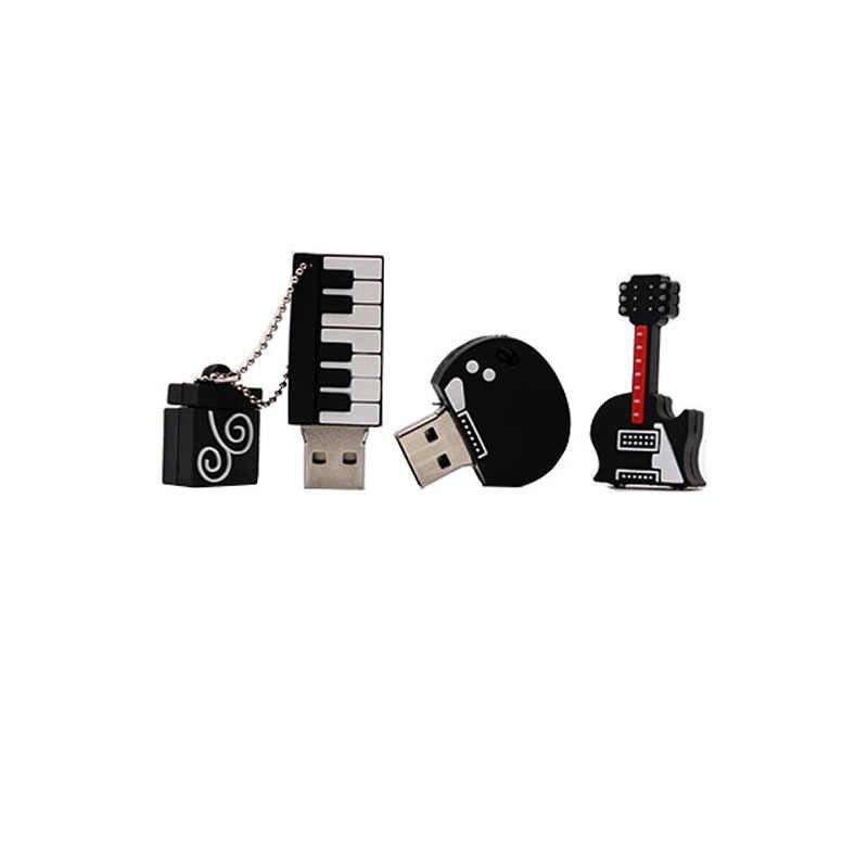 Gorąca sprzedaż instrument muzyczny pamięć usb 4GB 8GB 16G 32GB 64GB pen drive gitara/skrzypce/fortepian pendrive kreatywny pendrive