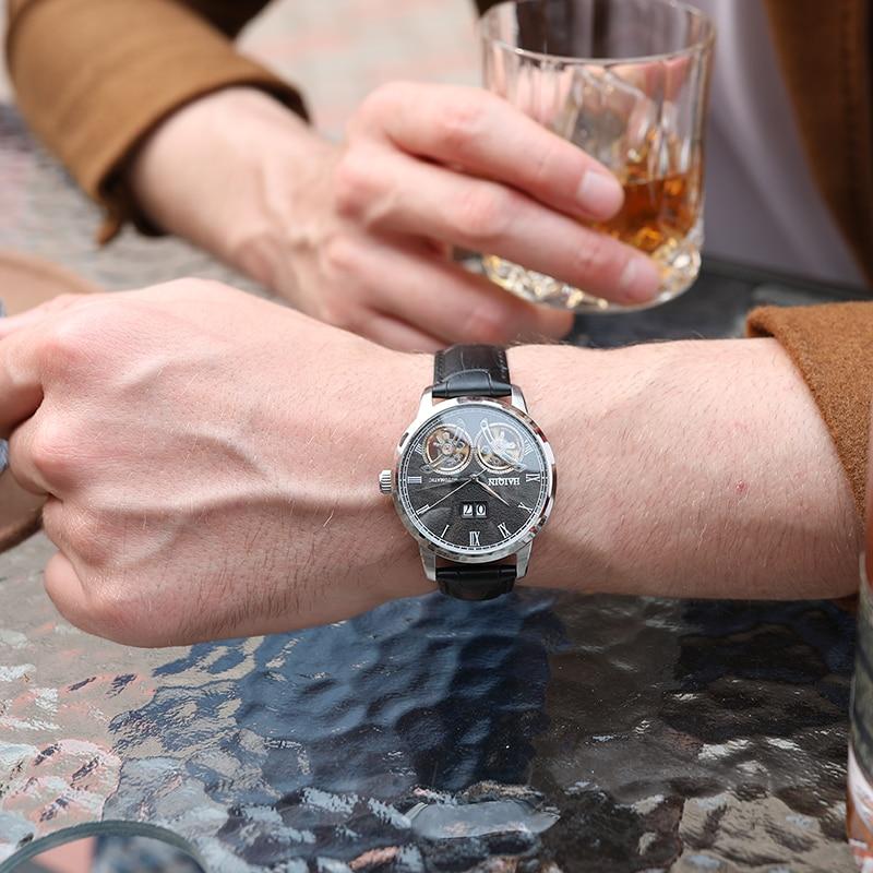 HAIQIN montres homme 2019 Top marque de luxe mode/militaire/automatique/mécanique/étanche/Sports/montre hommes horloge Reloj Hombre - 2