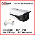 Dahua Starlight H.265 4MP DH-IPC-HFW4431M-I2 POE IP Camera replace IPC-HFW4421D Waterproof 80M IR with bracket IPC-HFW4431M-I2