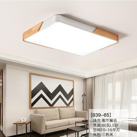 estar luz de teto retangular madeira