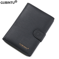 2015 Genuine Leather Men Wallets With Coin Pocket Passcard Pocket And Big ID Card Holder Famous