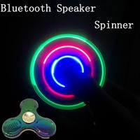 In Stock LED Light Fidget Hand Spinner Bluetooth Mini Speaker EDC Tri Hand Spinner For Autism