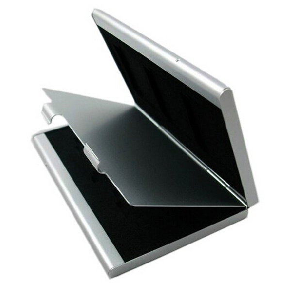 MicroSD Card Case Aluminum Memory Card Case Portable Card Box Holders For MicroSD CARD 24pcs