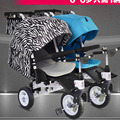 Gêmeos Carrinho De Bebê Pode ser Dividida, Carrinho dobrável para Duas Crianças, Bicicleta do bebê,