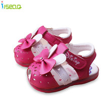 new style Baby Girls Sandals 4-18 months Princess lovely bow-knot Toddlers Kids toddler Shoes Summer Cute First Walkers
